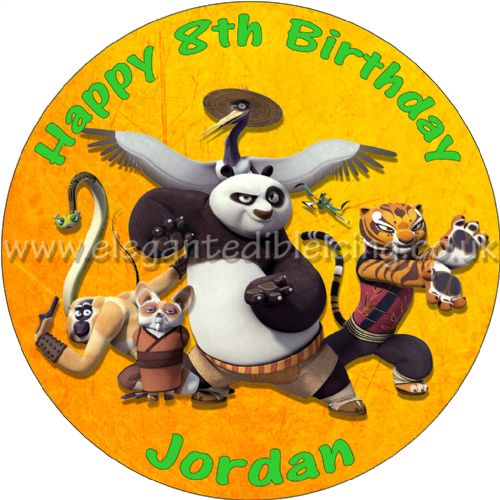 KUNG FU PANDA PERSONALISED BIRTHDAY CAKE TOPPER